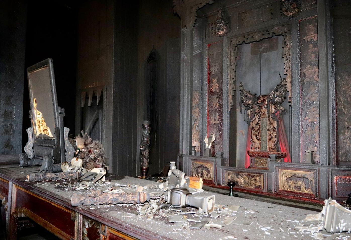 taoist temple fire damage