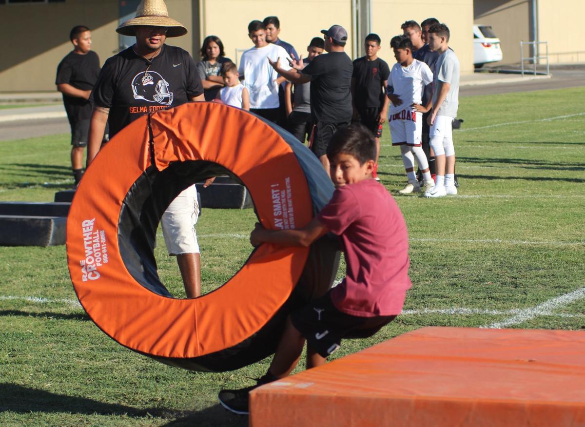 Selma hosts youth football camp