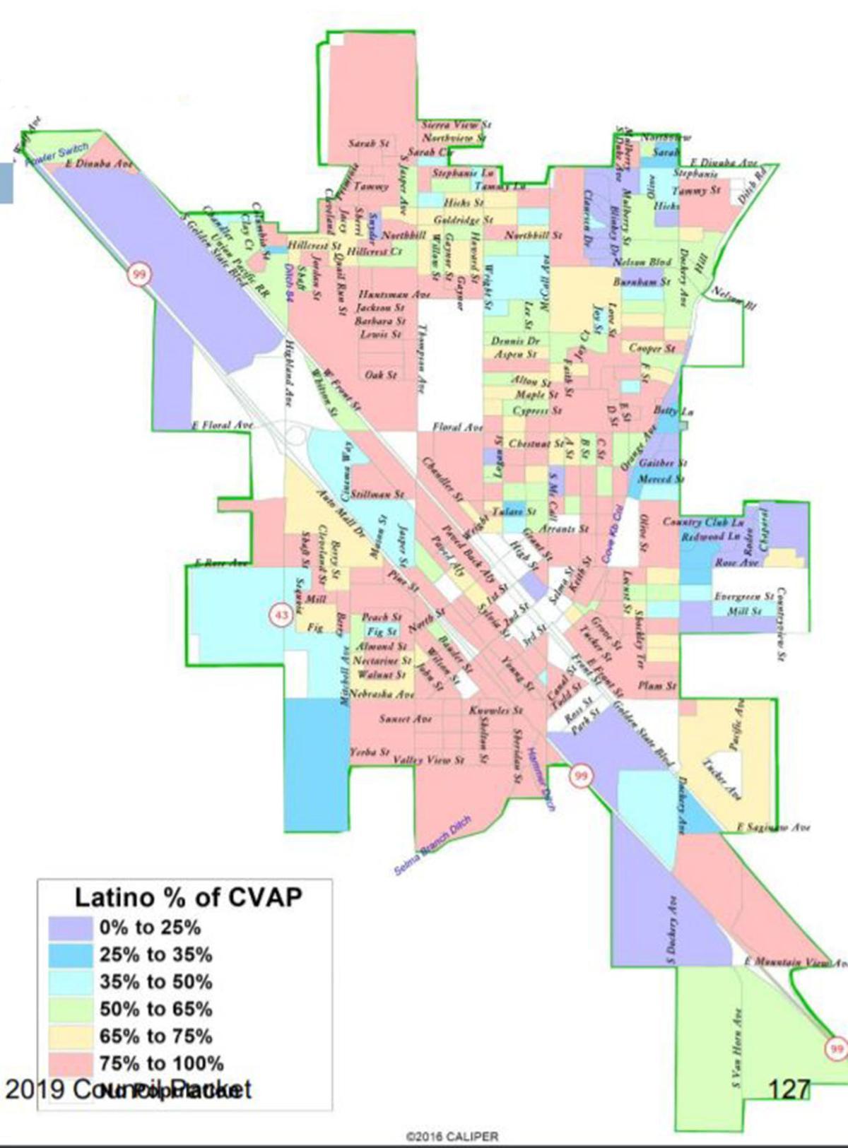 Council: Population map