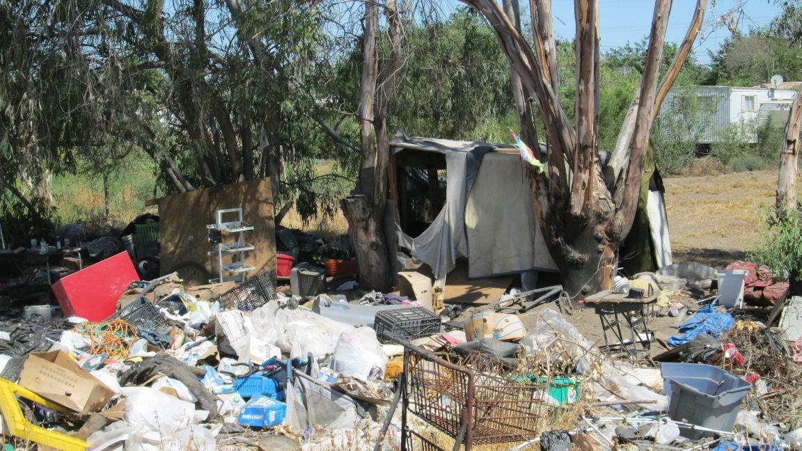 Hanford homeless encampment