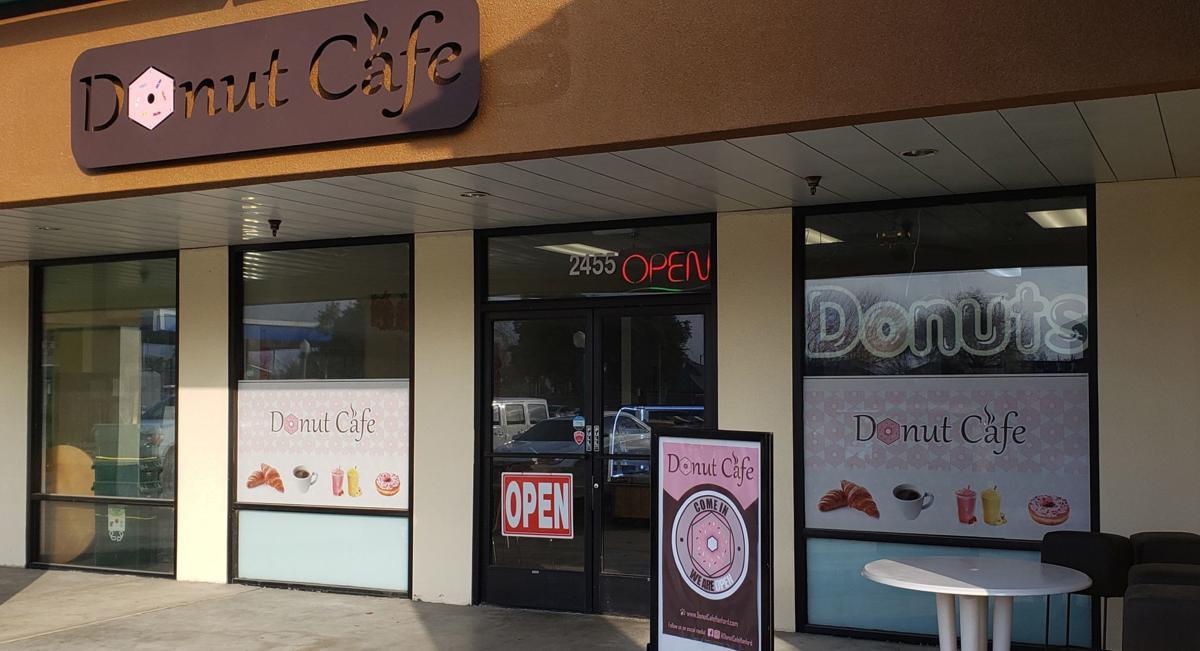 donut cafe sign