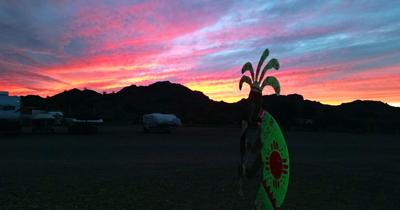 Koko sunset at Black Meadow Landing