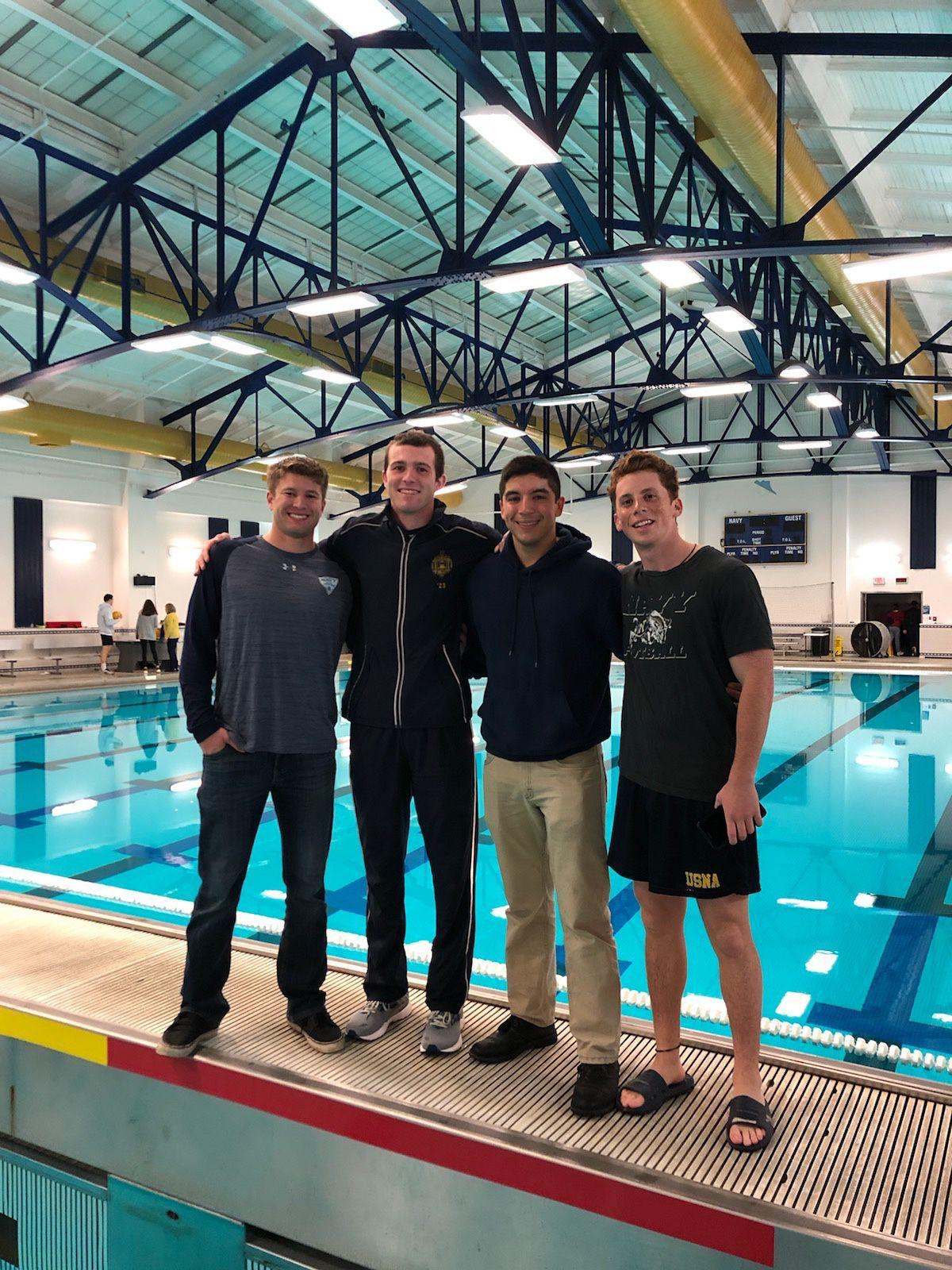 Locals represent United States Naval Academy water polo