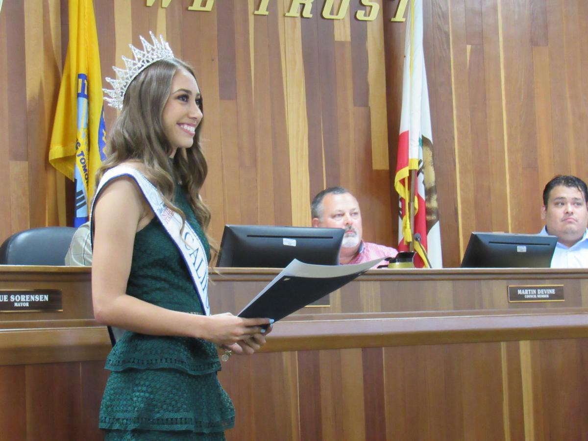 Mikayla Contreras at Hanford City Council