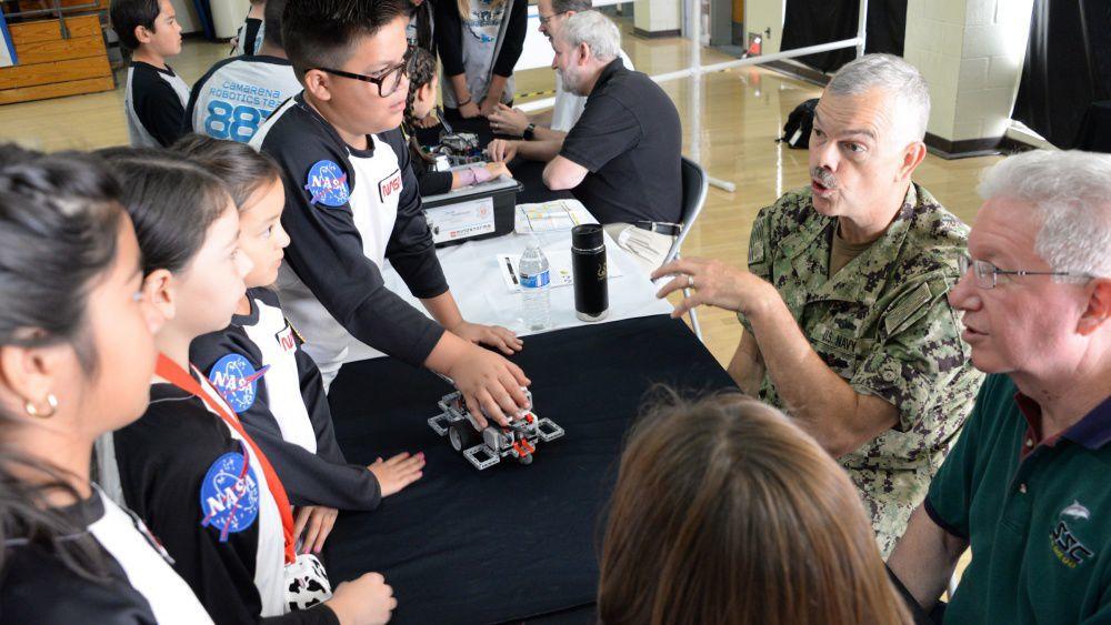 SPAWAR Inspires Future STEM Professionals at 10th Annual Robotics Competition