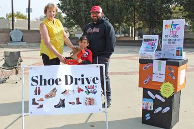 Shoe drive: Byrd accepts shoes