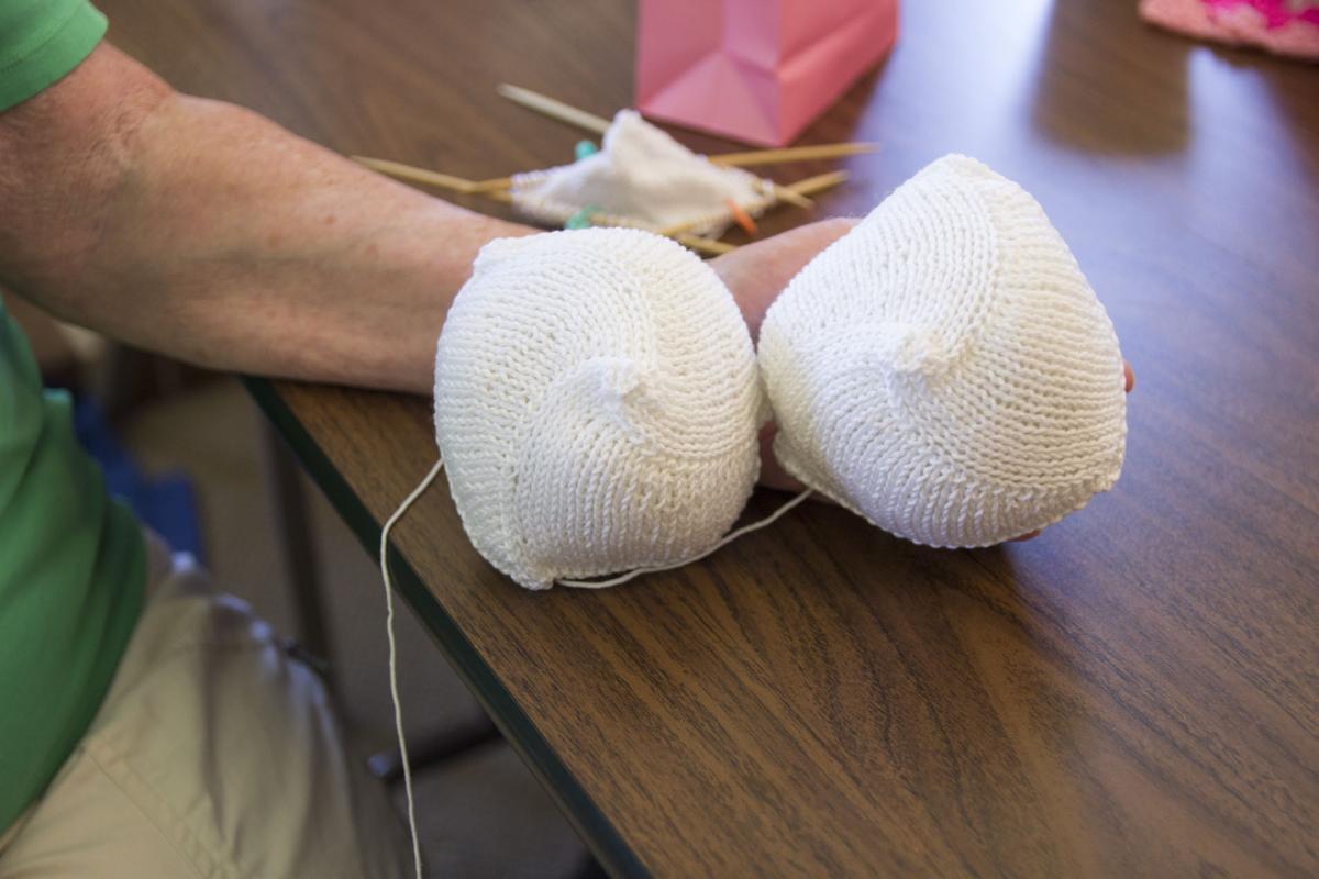 """Hospital Volunteer Creates """"Knitted Knockers"""""""