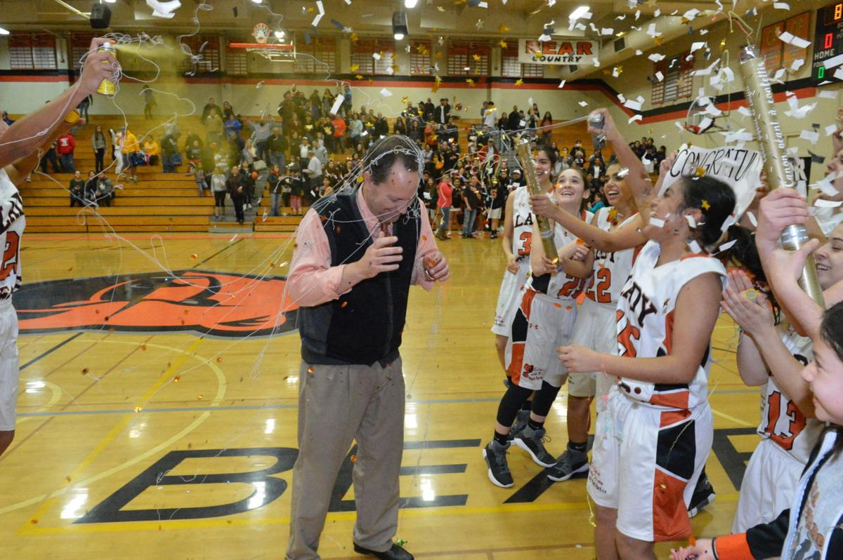 Selma girls: Team celebrates win