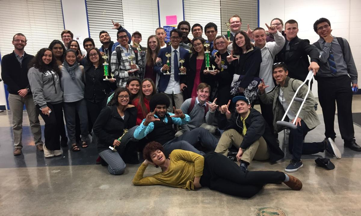 Speech and Debate Team at their third competition for 2017