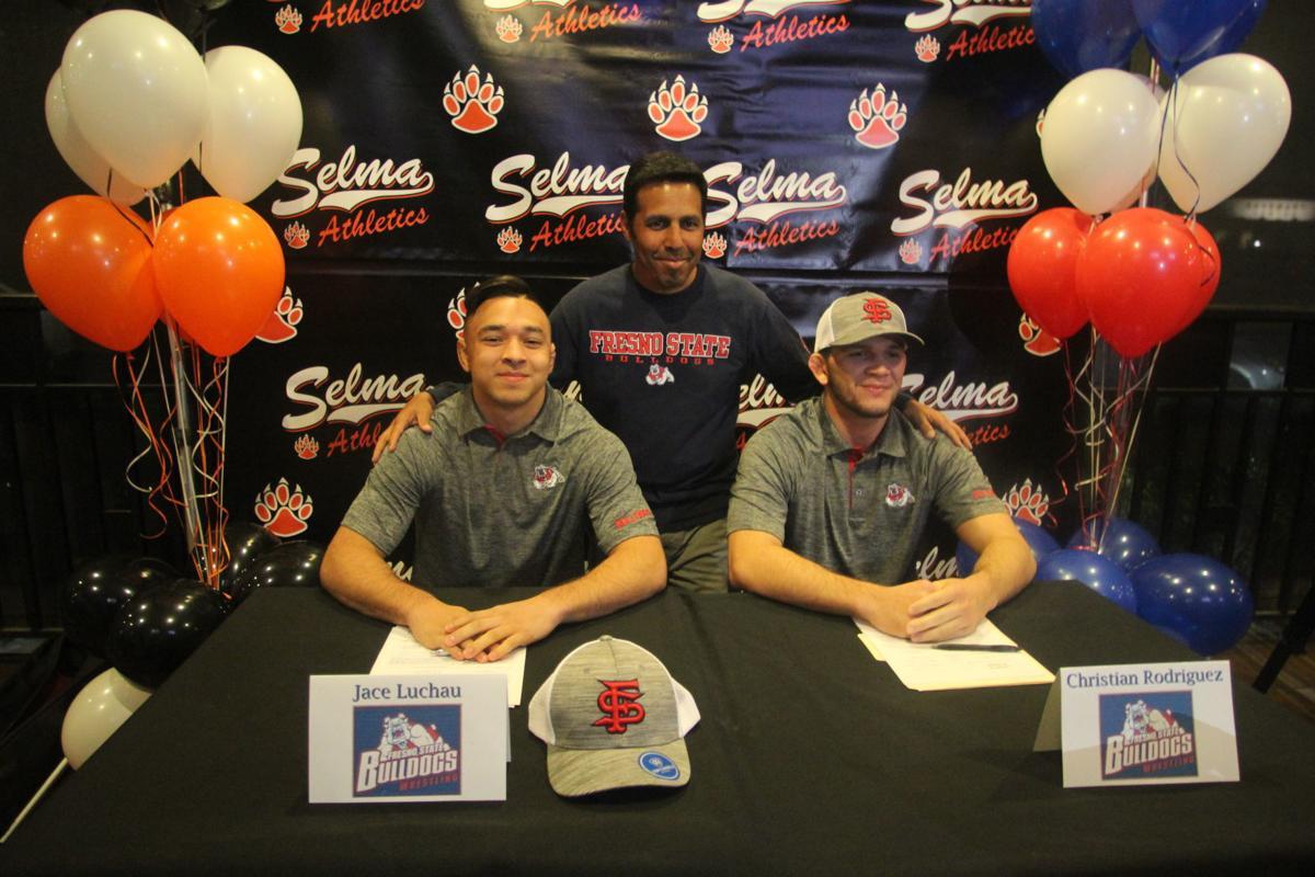 Luchau, Rodriguez and coach Sam Lopez