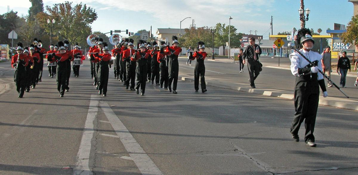 Selma High performs: Parade formation