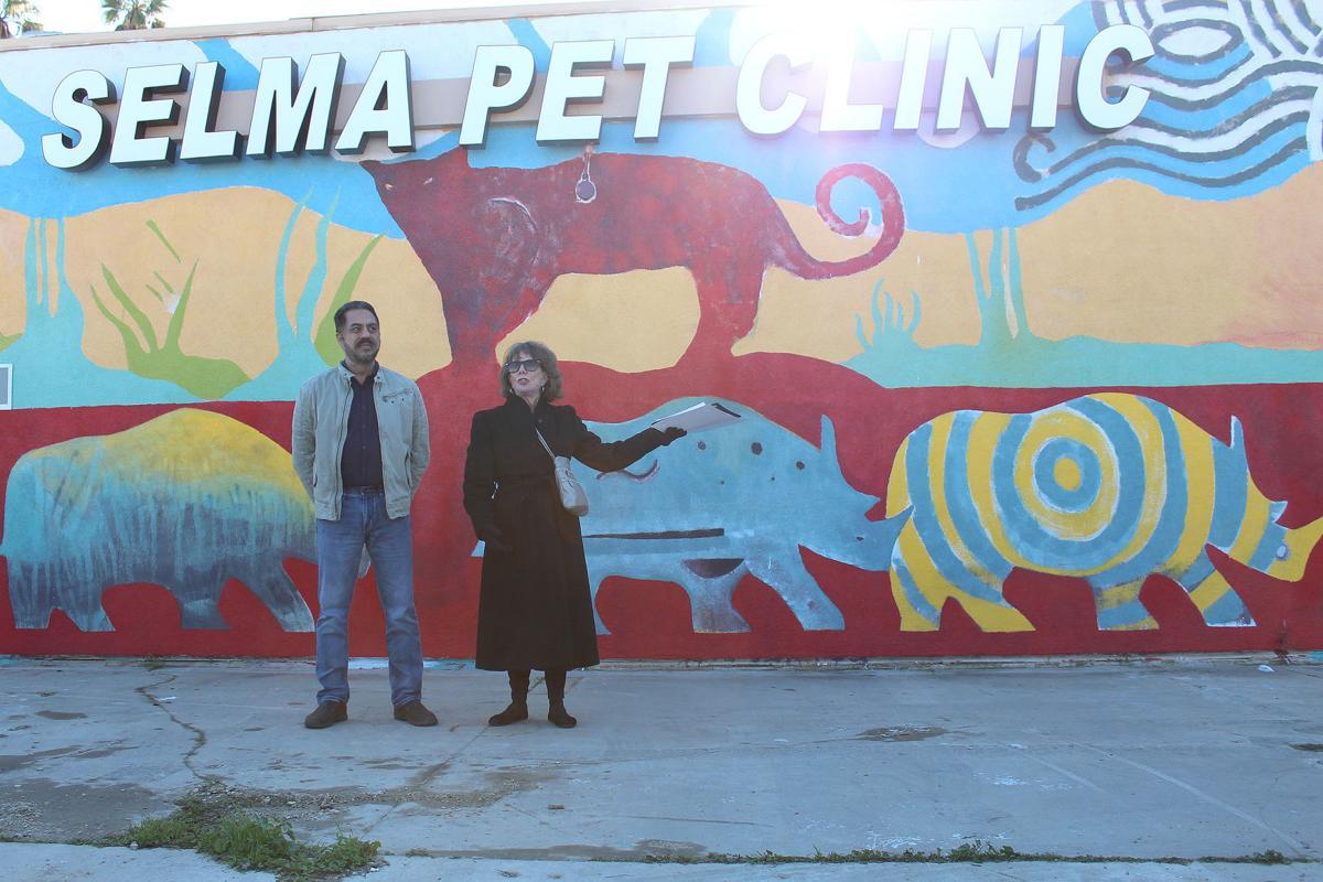 Mural: Vicki Filgas Trevino and Dr. Singh