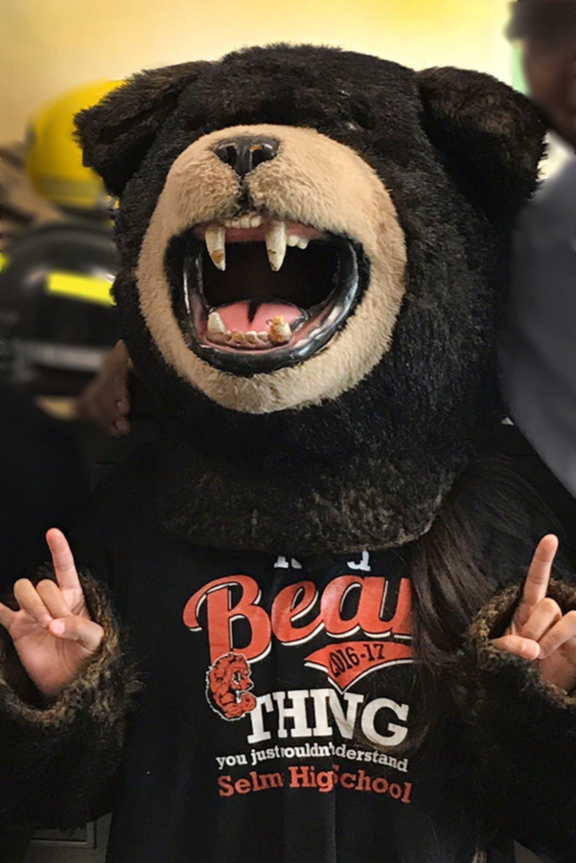 Improved grades: Oskie the Bear