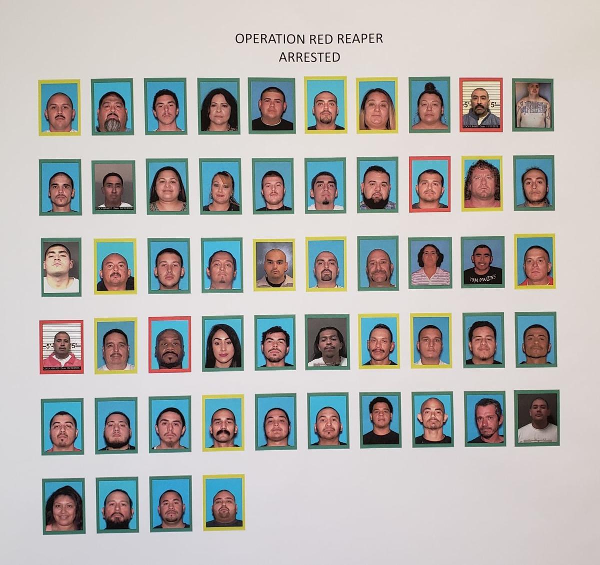 54 arrests