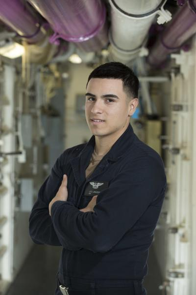 Hanford native serves aboard nation's newest floating airport at sea