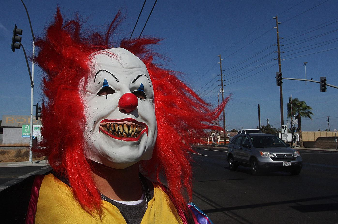 Clown outfits for Halloween in Hanford