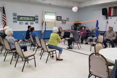 Chair volleyball: New at Senior Center