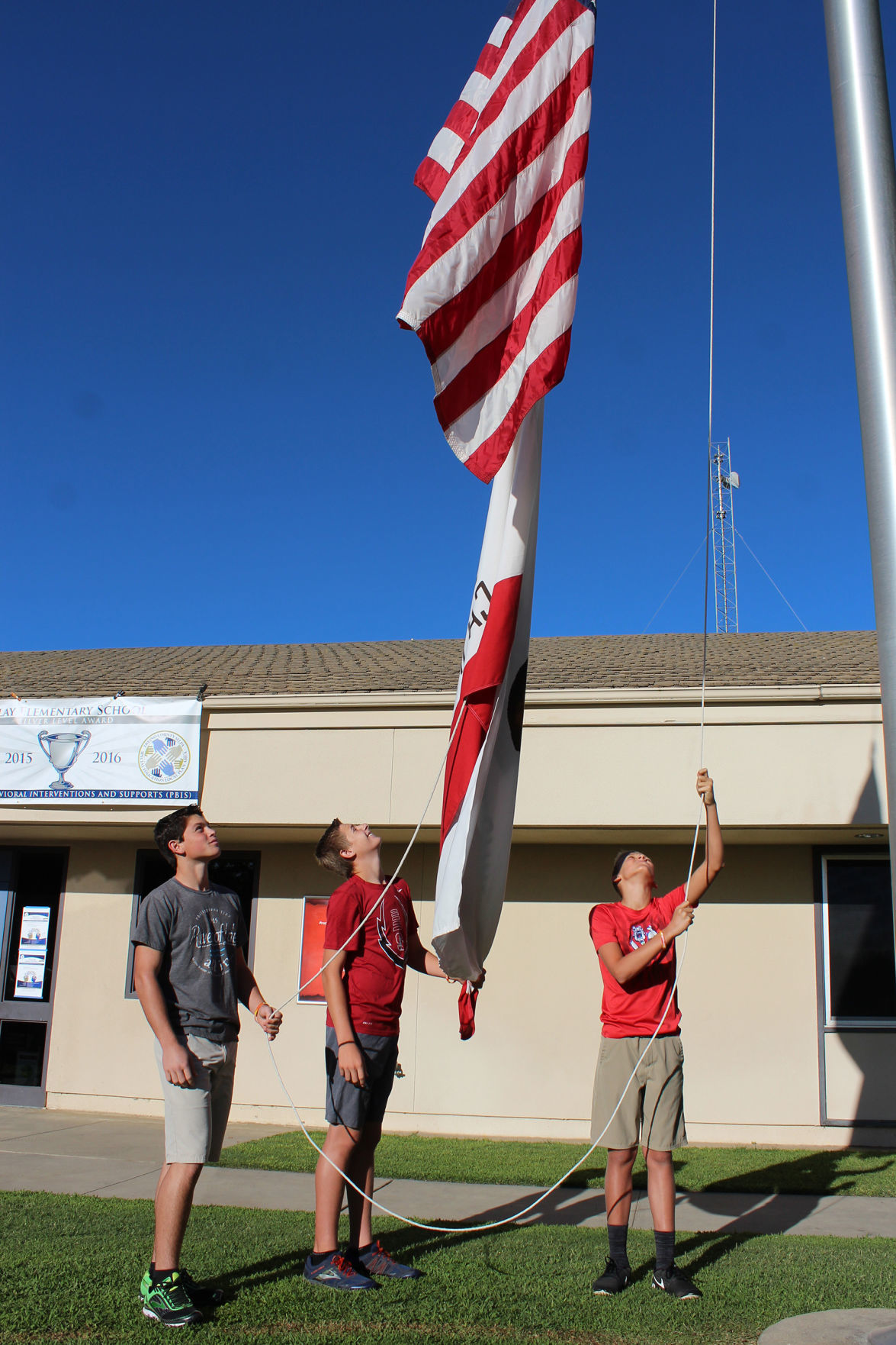 Clay: Flag raising