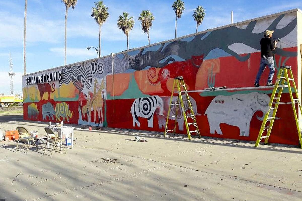 New mural: Artist