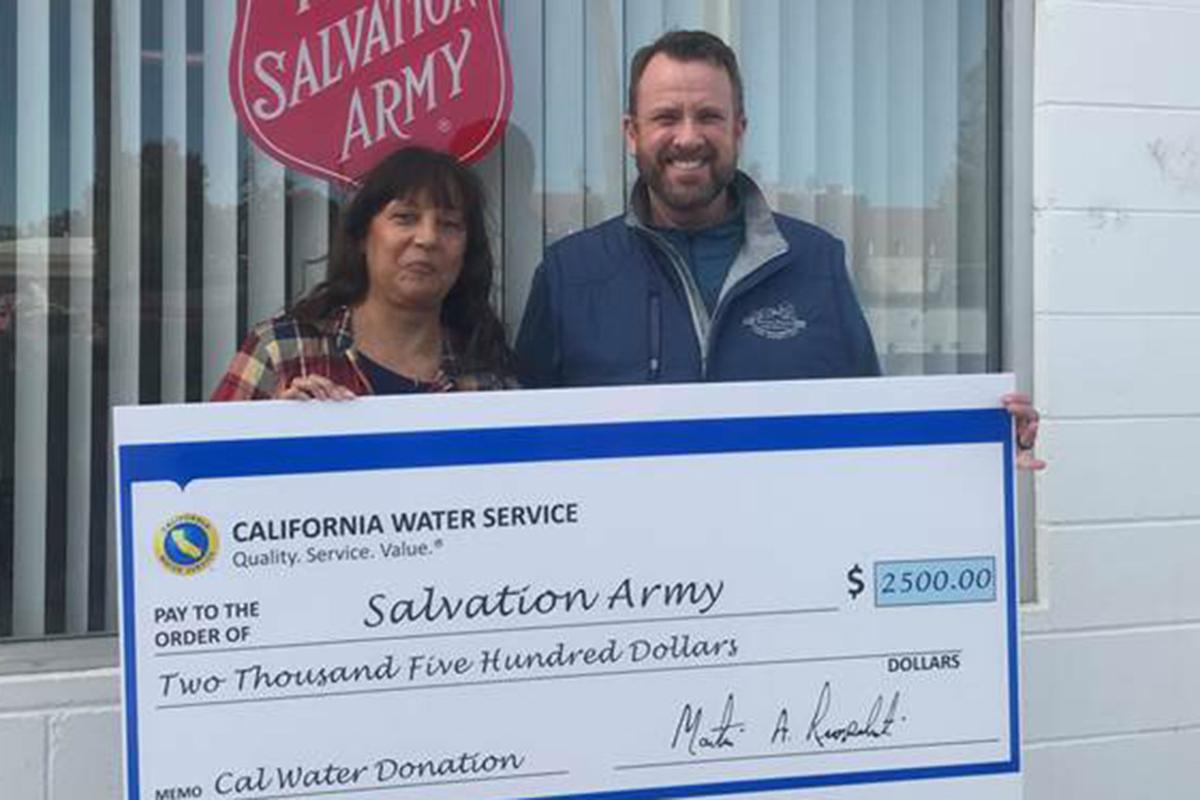 Cal Water: Donates to Salvation Army