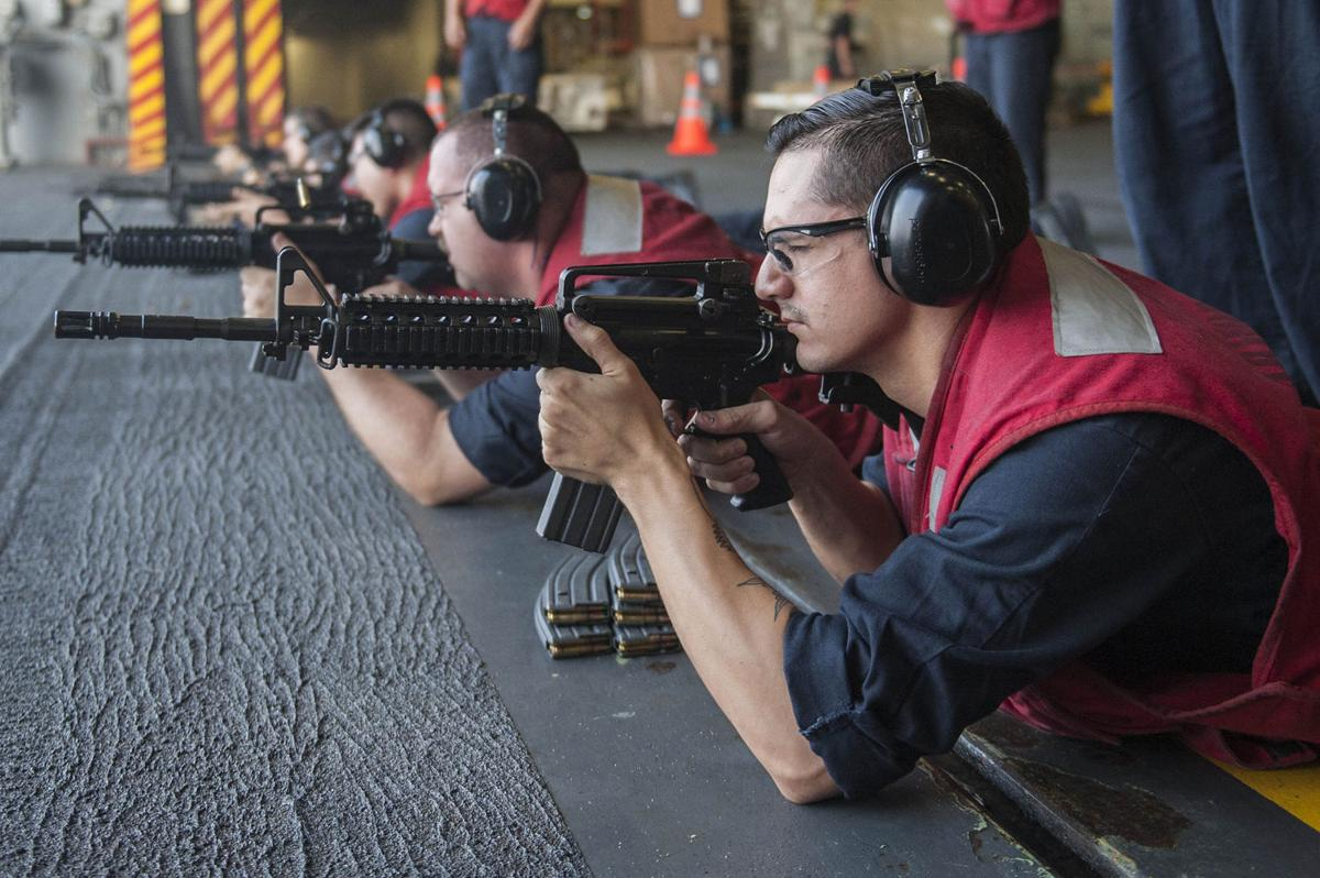 USS America live fire exercise