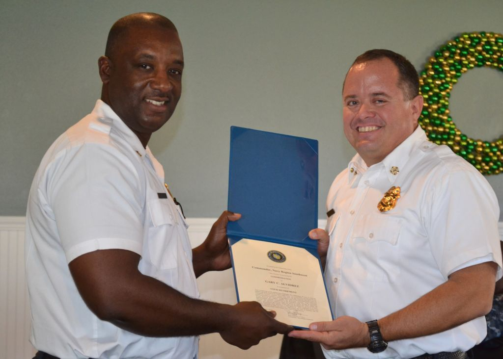 Base fire chief says farewell