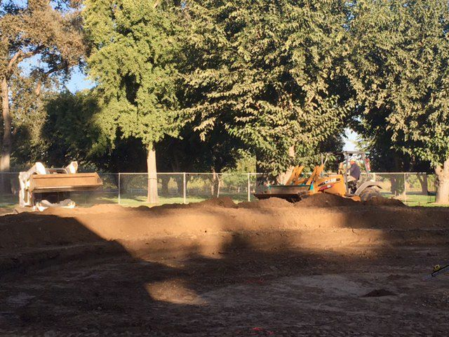 Burris Park construction