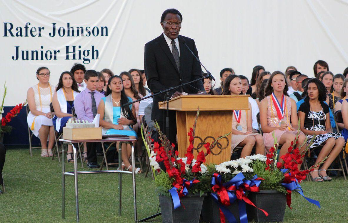 Nearly: Rafer Johnson addresses