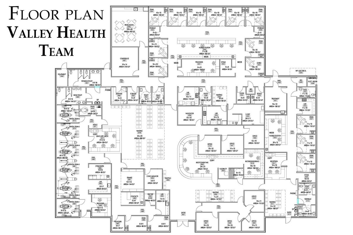 Valley Health Team: Floor plan