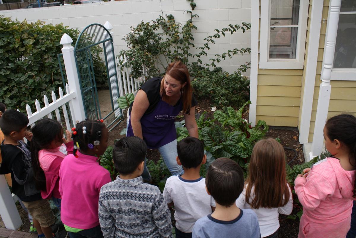 Childrens storybook garden