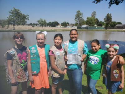 Girl Scout Troop 3049 provide education and information on