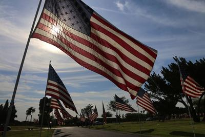 Memorial Day flags placed at Grangeville Cemetery