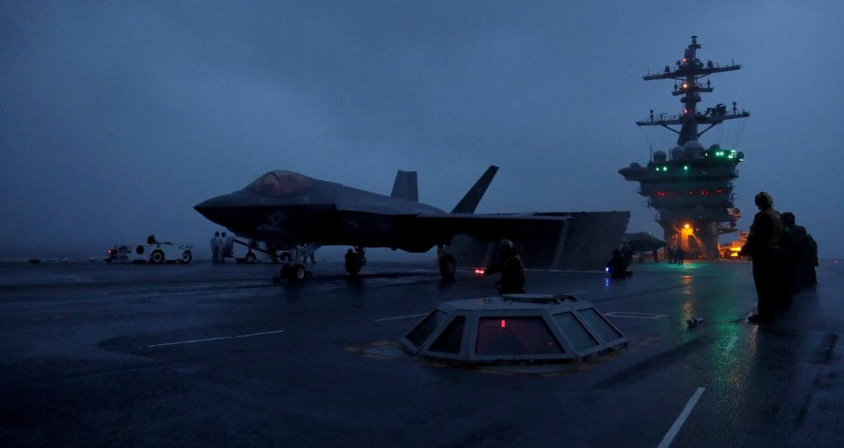 VFA-125 conducts first F-35C full Carrier quals