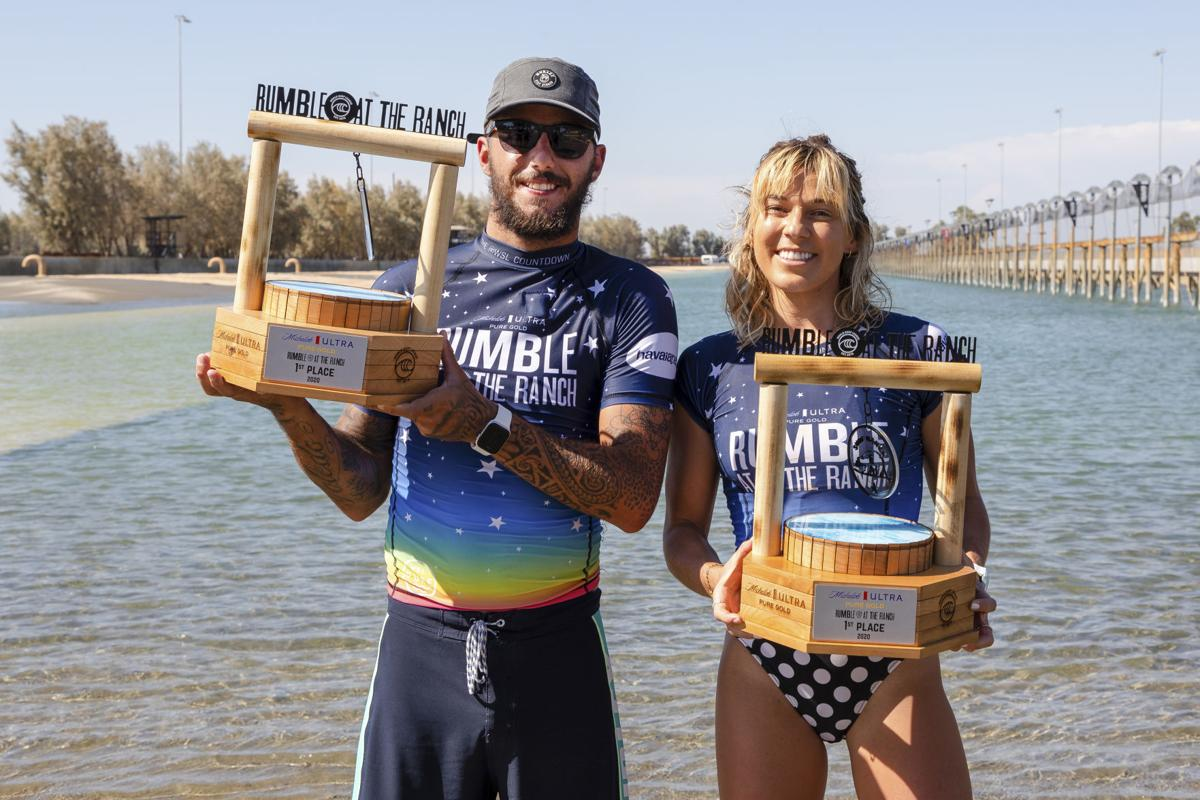 Coco Ho and Filipe Toledo win Michelob ULTRA Pure Gold Rumble at the Ranch