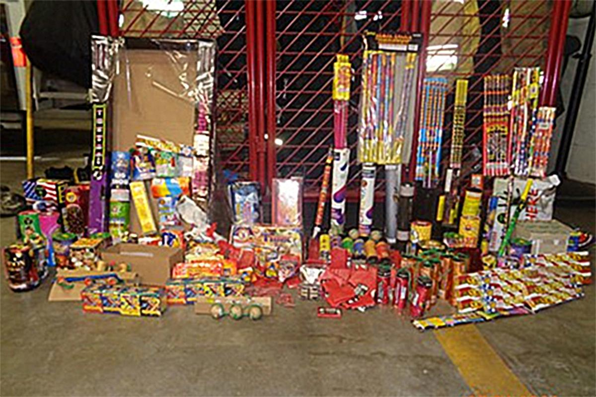 Fireworks Taskforce: Confiscated