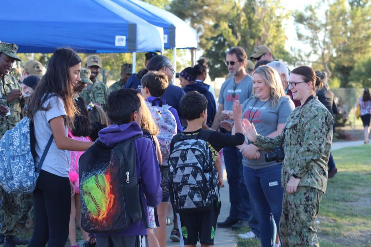 Base schools participate in Walk to School Day