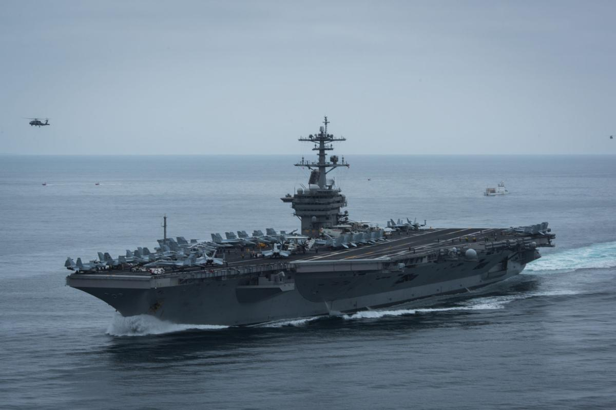Theodore Roosevelt Carrier Strike Group enters 7th Fleet