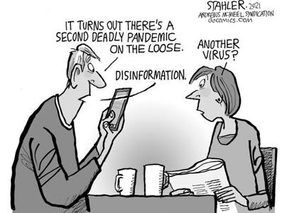 Editorial Cartoon: Disinformation