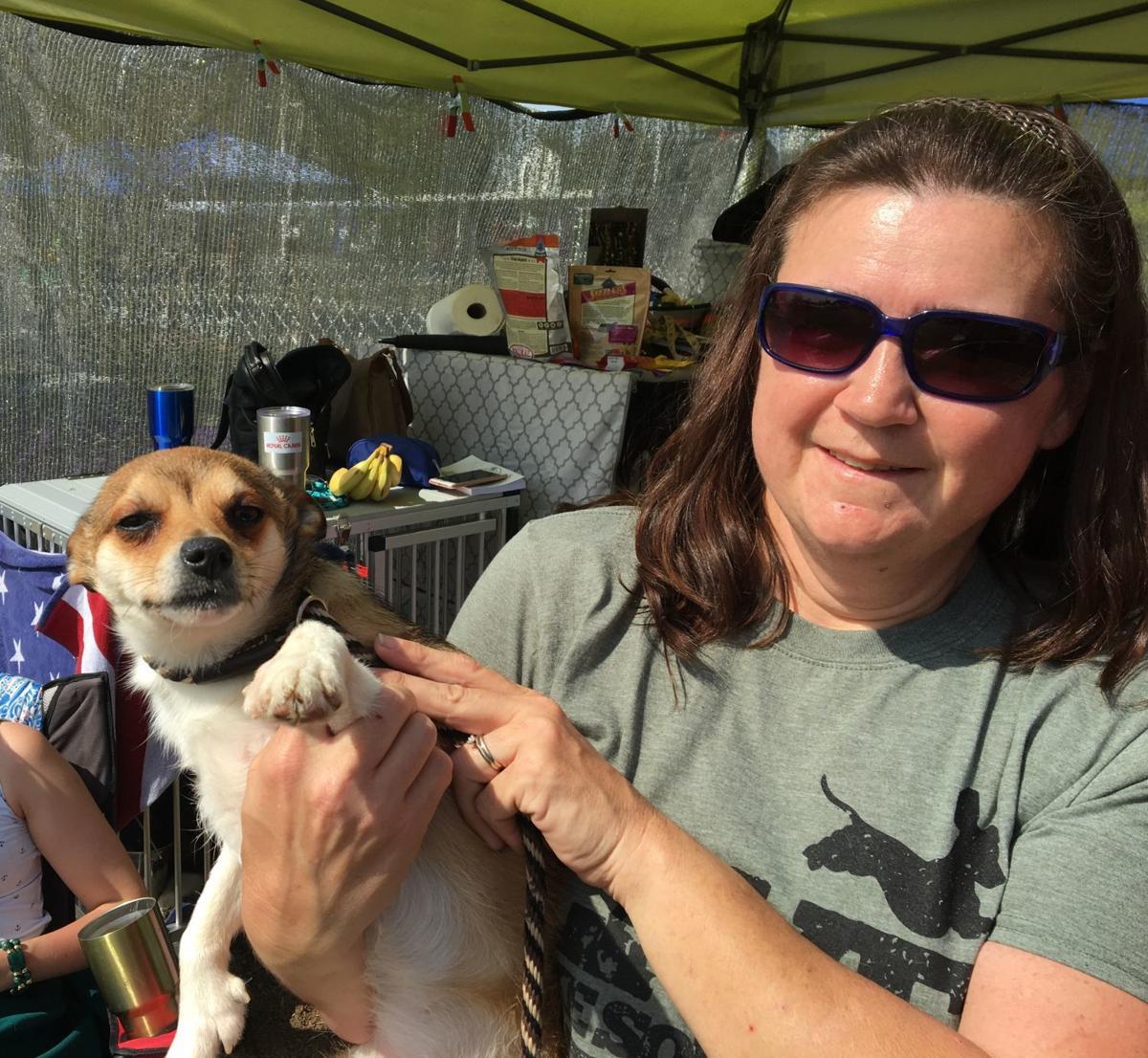 Dog Show - Pikku, a Norwegian Lundehund, & Carrie Riley