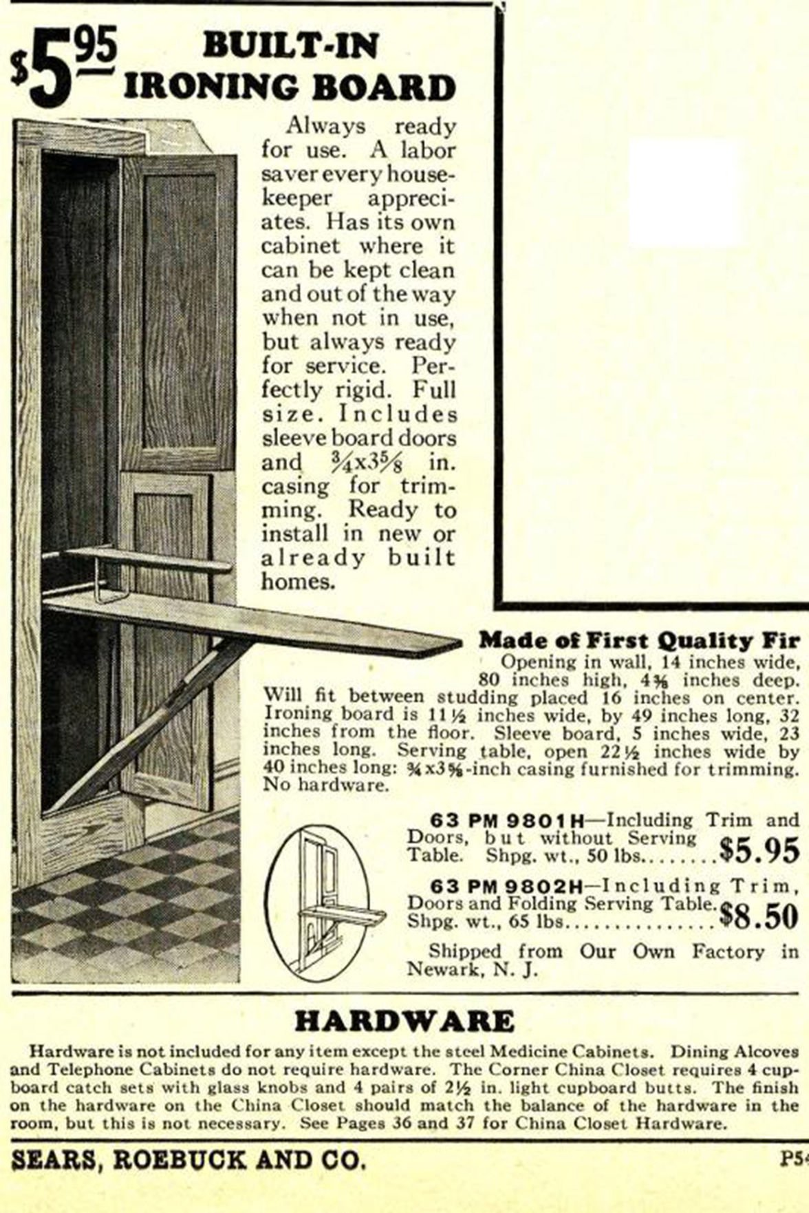Remember When: Ironing boards
