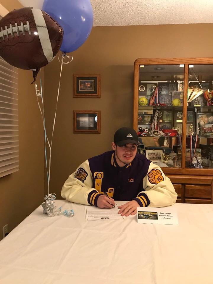 Local student to play football for Tabor College