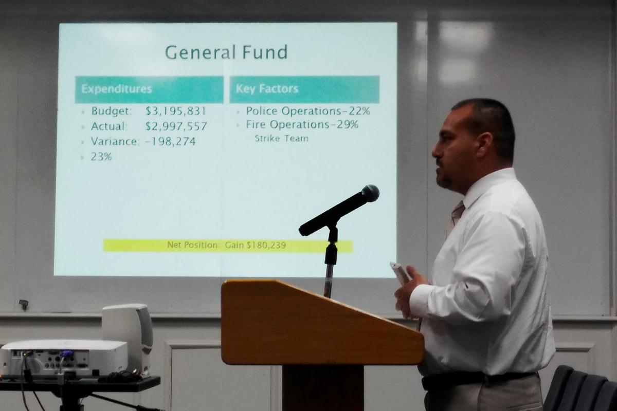 Funds: Moreno gives budget update