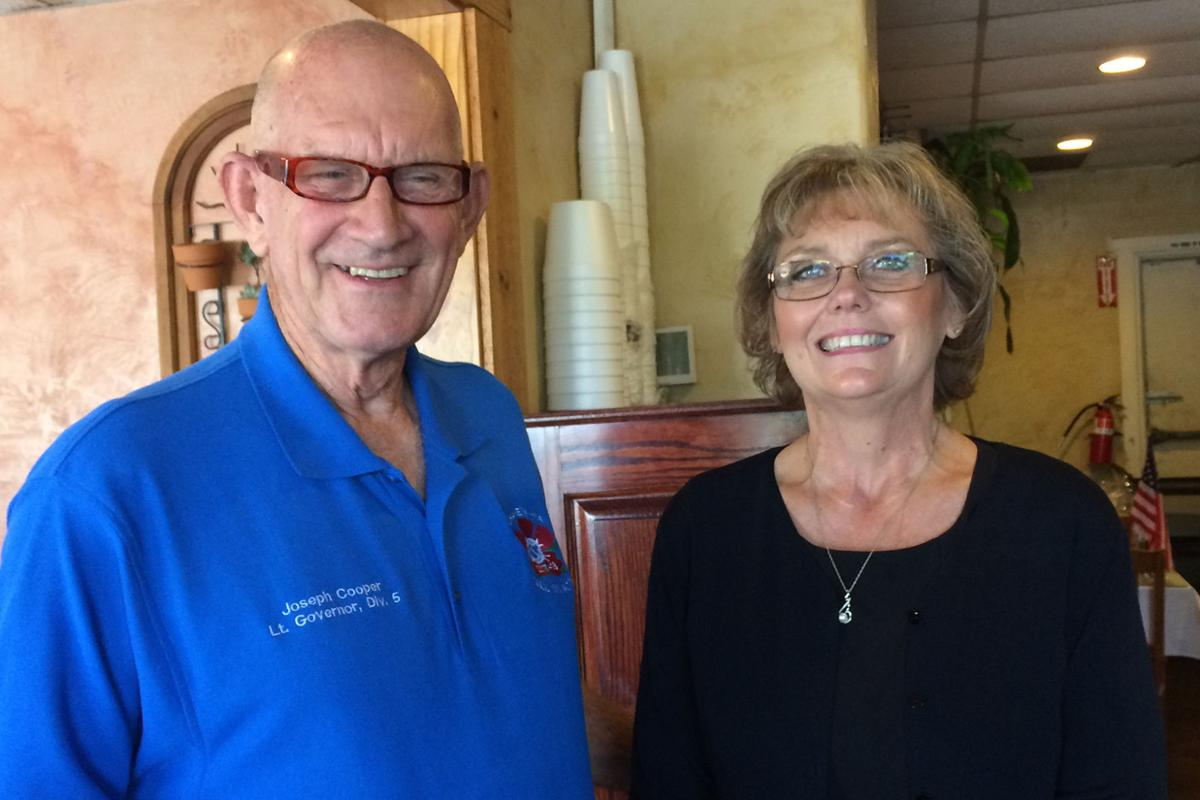 Kiwanis: Joe Cooper and Peggy Martin