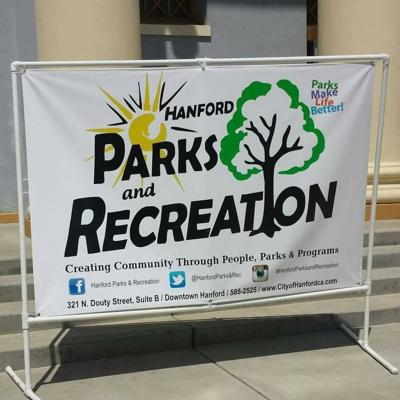 Hanford Parks and Rec sign
