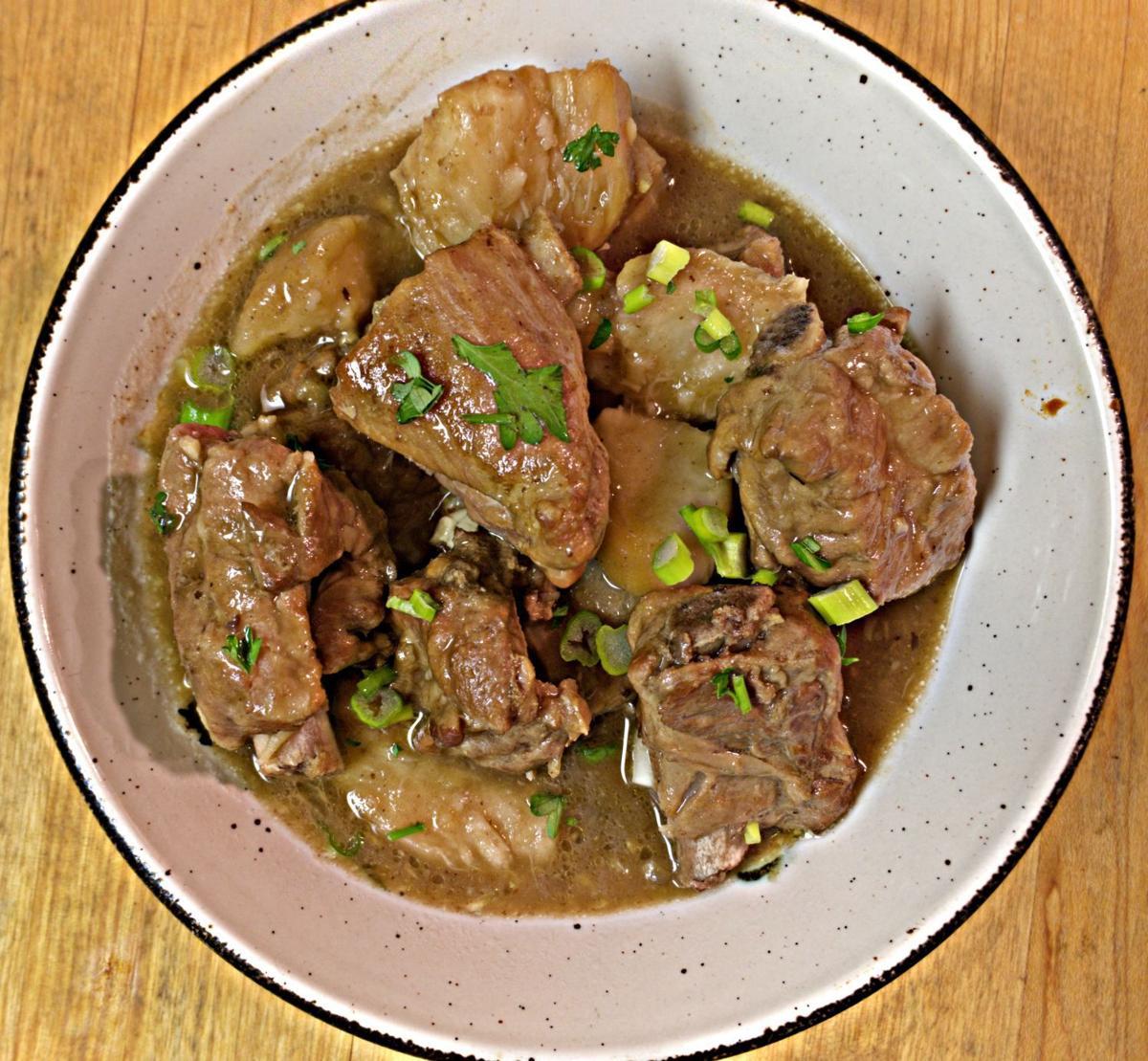 Pork Ribs and Taro Root Stew