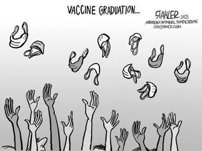 Editorial Cartoon: Vaccine Graduation