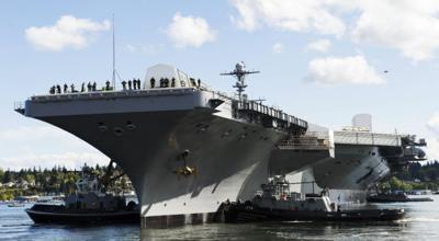 USS Stennis departs dry dock   The Lemoore Navy News