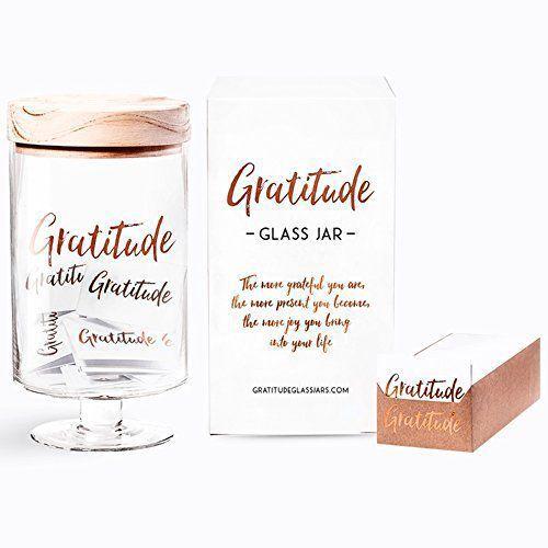 Gratitude Glass Jar