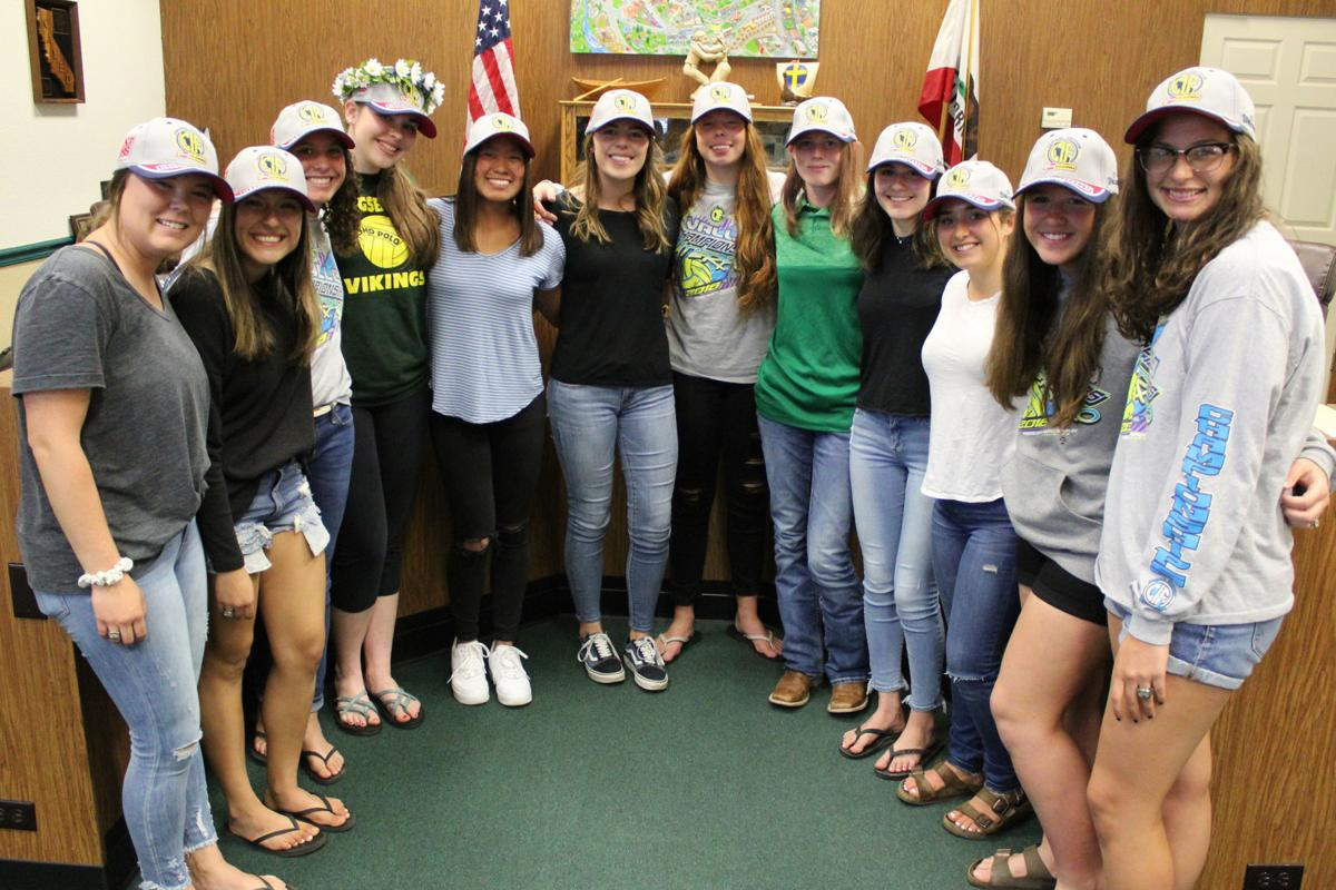 Interim: Girls water polo honored