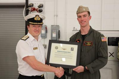 U.S. Navy F-35C Pilot Receives Britannia Award